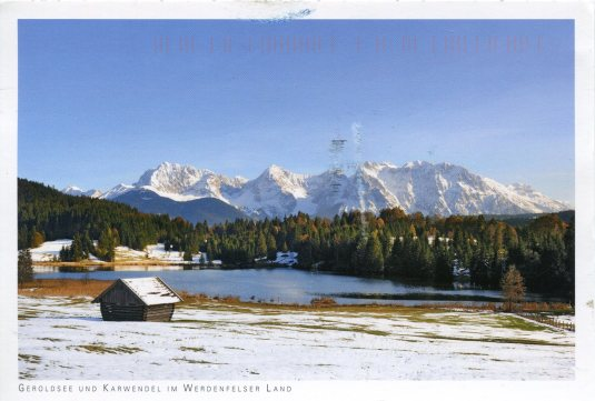 Germany - Lake Gerold Karwendel Mtns