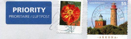 Germany - Warnemunde Lighthouse stamps