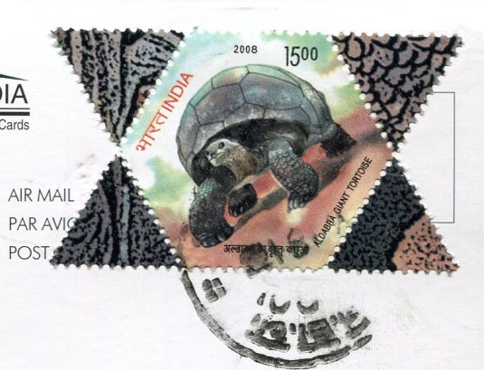 India - Map Card stamps