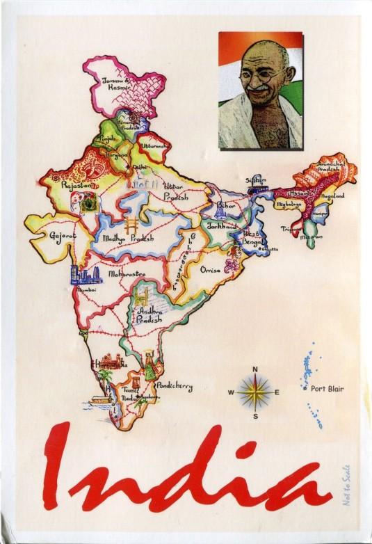 India - Map Card