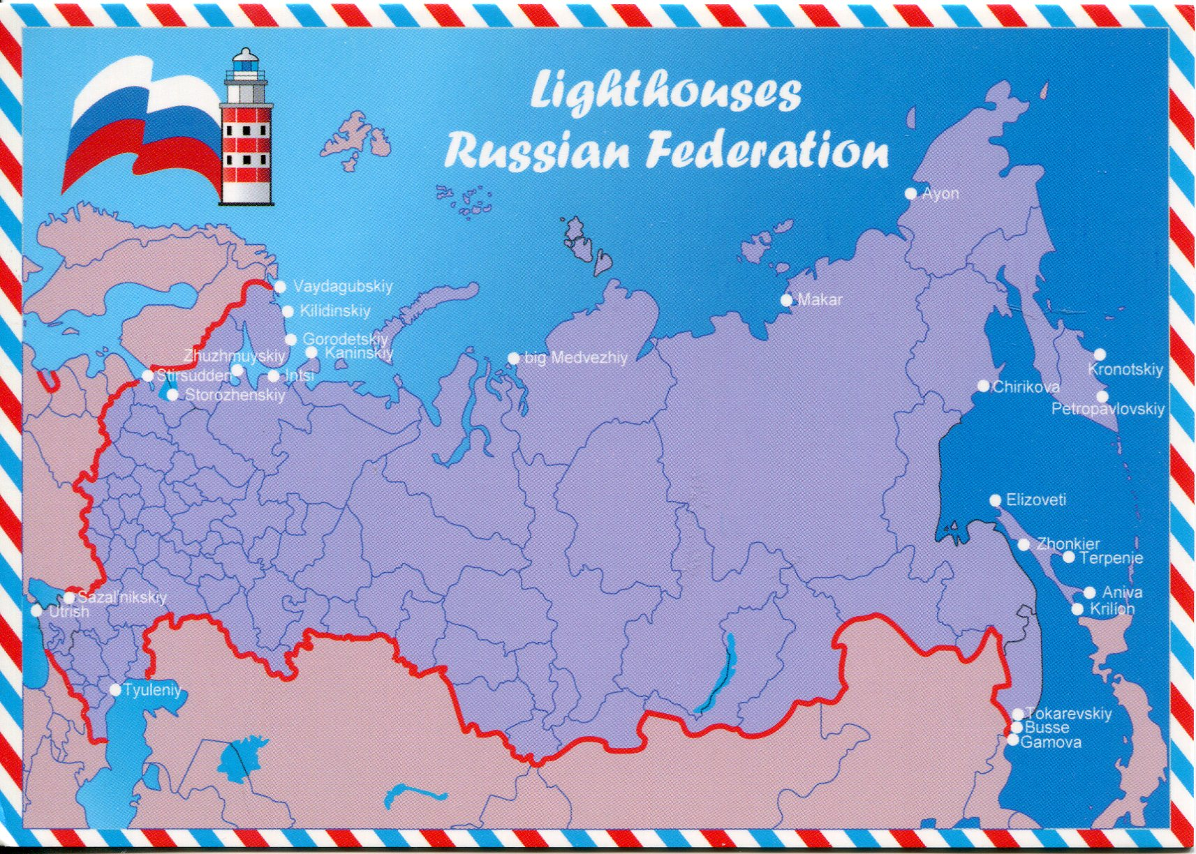 Map of the Lighthouses of the Russian Federation | Remembering ...