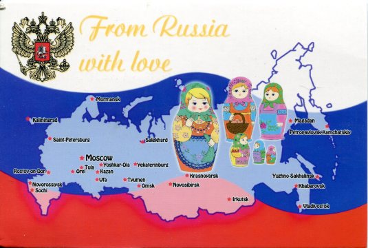 Russia - Map and dolls