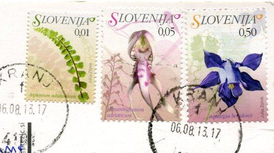 Slovenia - Triglavske NP Wildflowers stamps
