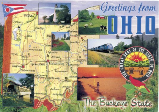 USA - Ohio - Map card
