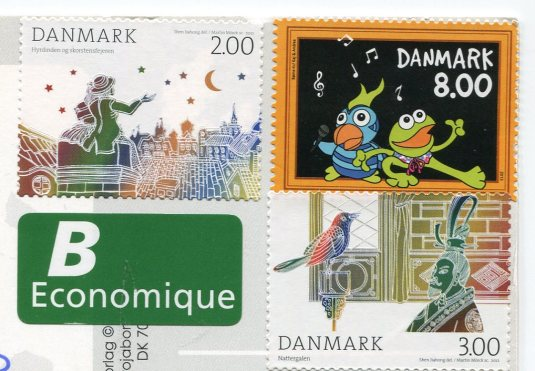 Denmark - Flag stamps
