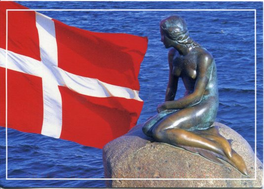Denmark - Little Mermaid and Flag