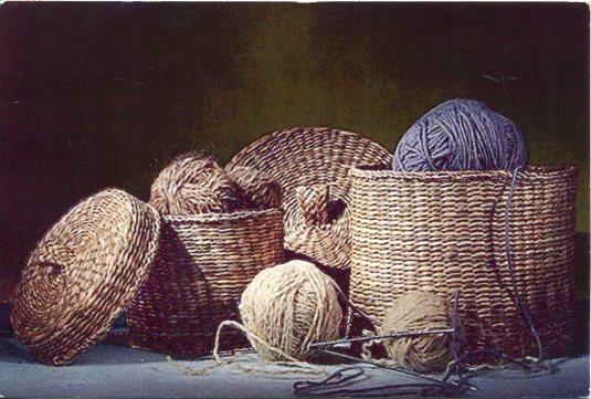 Russia - Baskets of Yarn