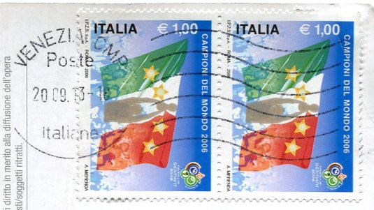 Italy - Vintage Motorscooter stamps