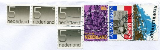 Netherlands - Map of Flight stamps
