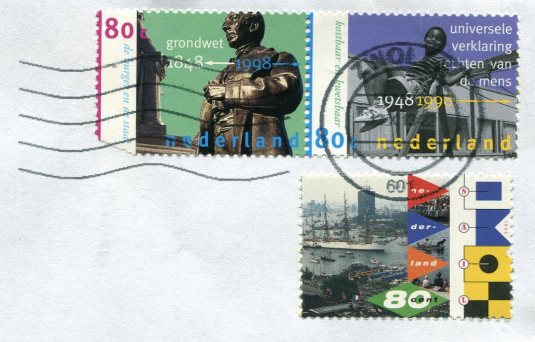 Netherlands - Tulips and Windmills stamps