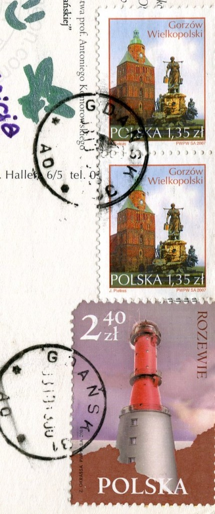 Poland - Rozewie Lighthouse stamps