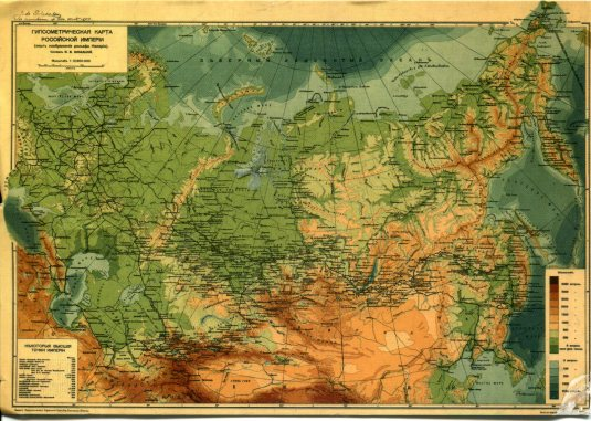 Russia - Map relief
