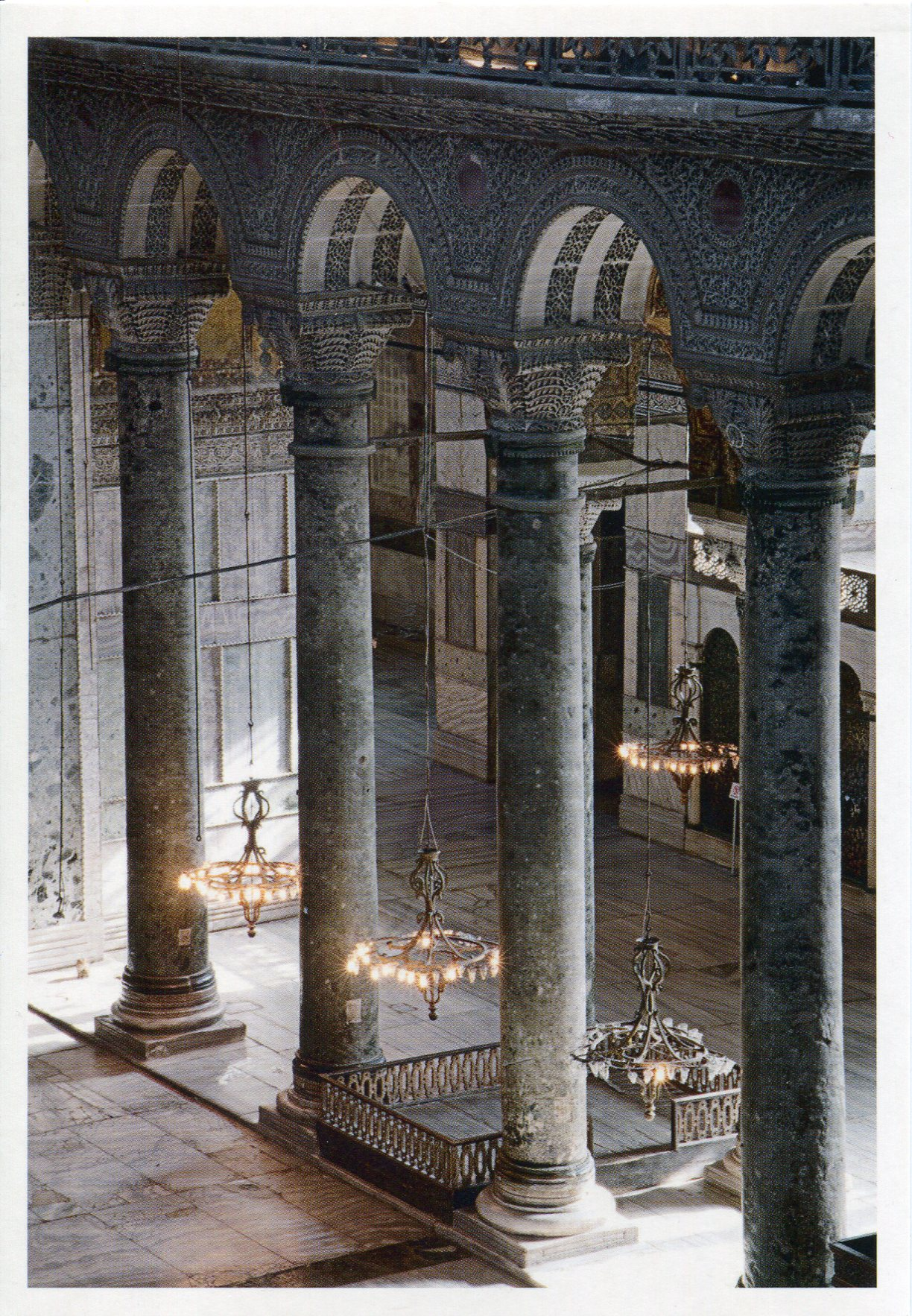 Hagia sophia interior remembering letters and postcards - Pillars for inside the home ...
