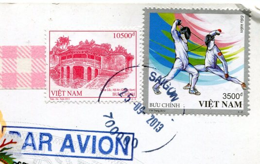 VietNam - Ploughing Rice Paddy stamps