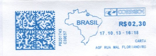 Brazil - Urubici Church Hill stamps