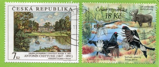 Czech Republic - Castle Veveri stamps