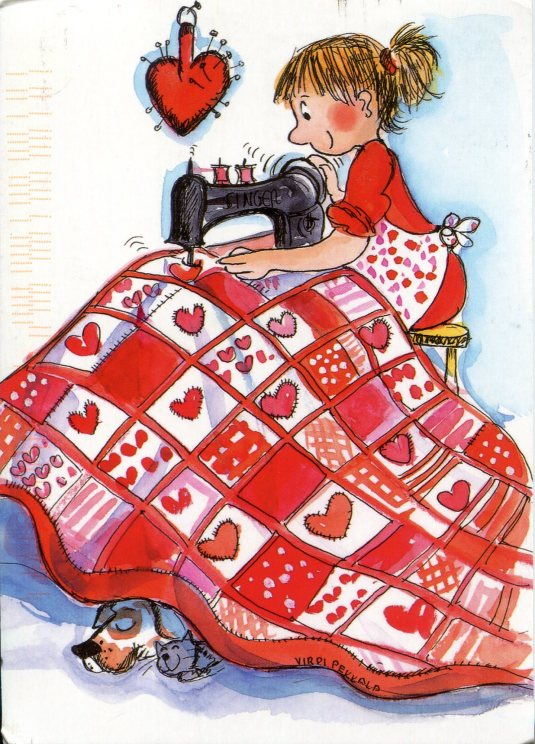Finland - Sewing a Quilt