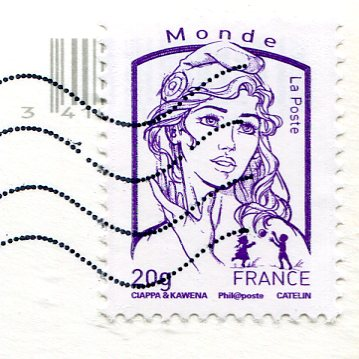 France - Alsace multi stamps