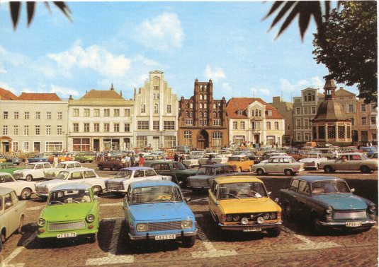 Germany - Wismar GDR cars