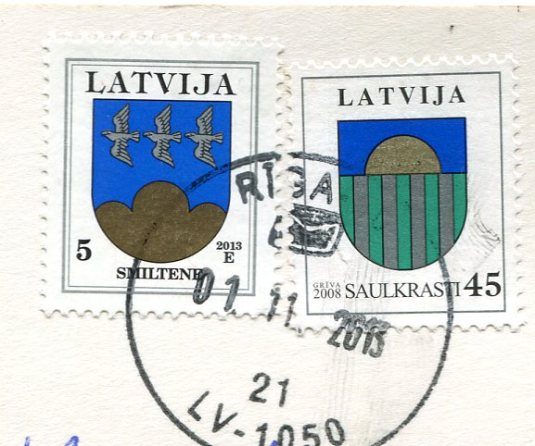 Latvia - Riga Art Nouveau Builings stamps