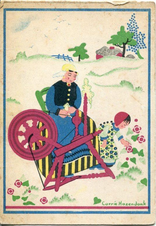 Netherlands - Spinning Wheel Illustration