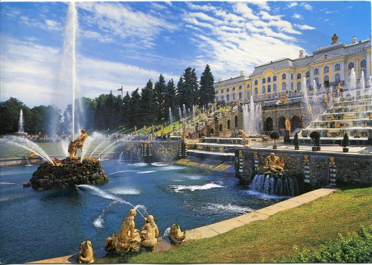 Russia - Peterhof Grand Cascade