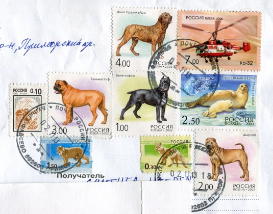Russia - Grey Cat Pets stamps