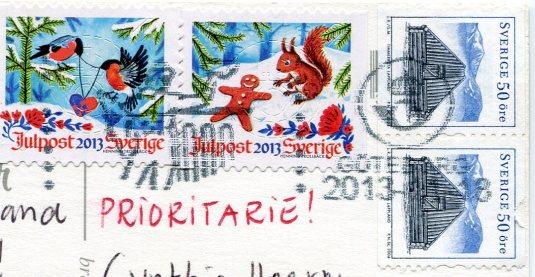 Sweden - Christmas Angel stamps
