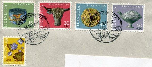 Switzerland - Lambs Sleeping stamps