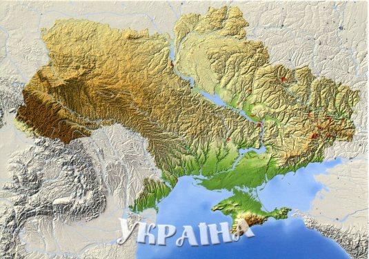 Ukraine - Map Topo