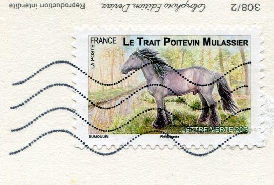 France - Goat Saanen stamps