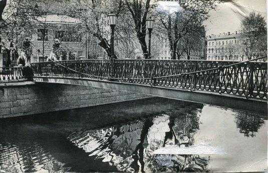 Russia - St Petersburg - Lion's Bridge