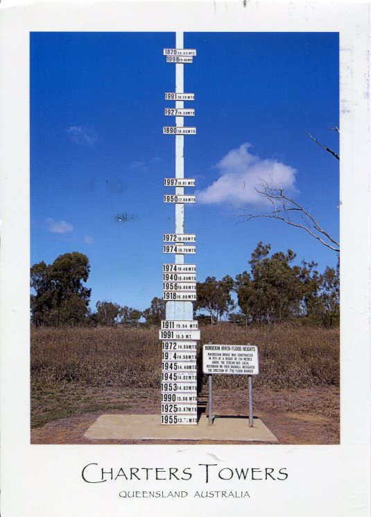 Australia - Burdekin River Flood Marker