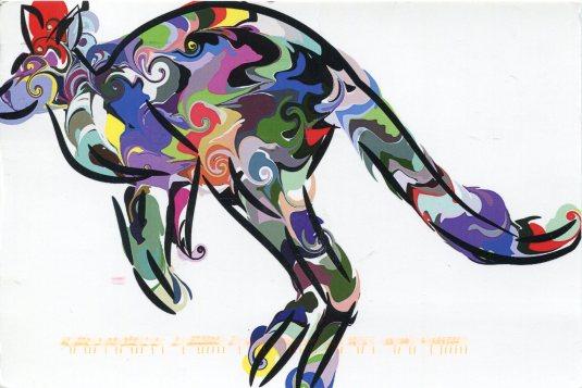 Australia - Kangaroo Art