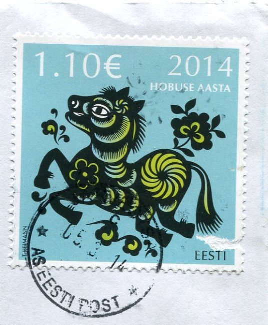 Estonia - Map of Folk costumes stamps