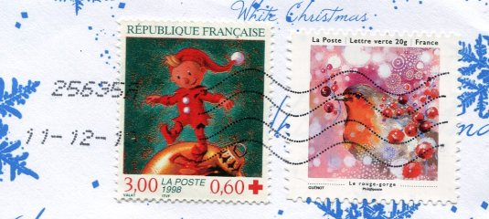 France - Happy New Year stamps