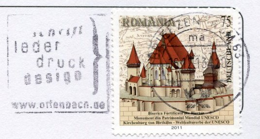 Germany - Frankfurt and Kaiserdom stamps