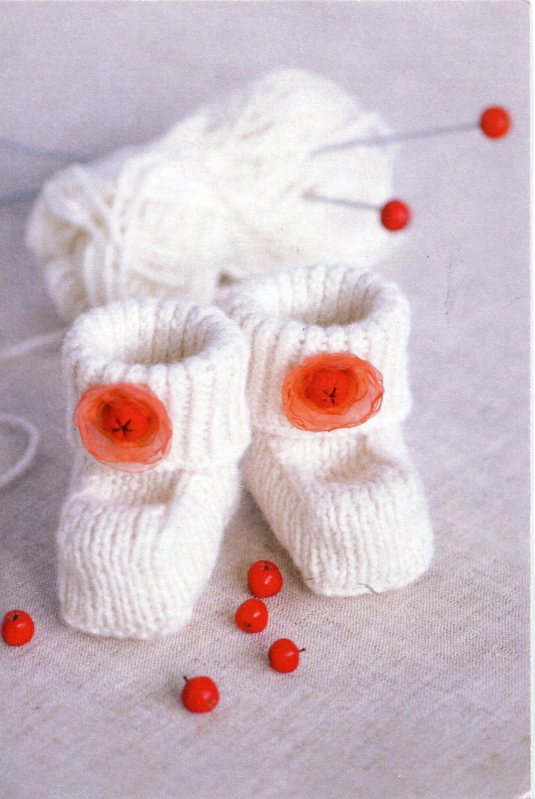 Latvia - Knitted Baby Boots