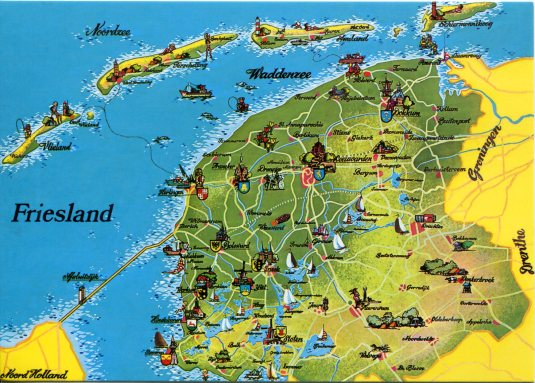 Netherlands - Friesland Map