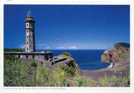 Portugal - Azores Lighthouse Capelinhos Volcano
