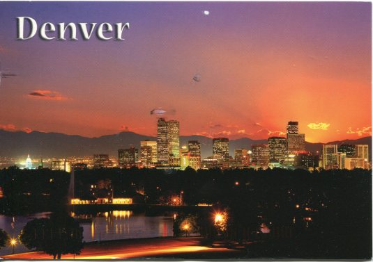 USA - Colorado - Denver Night skyline