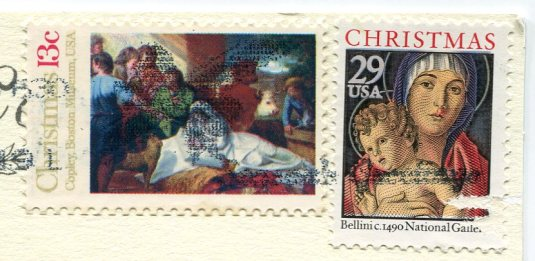USA - Z - Merry Christmas stamps