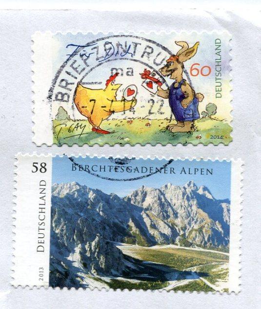 Germany - Easter Egg stamps