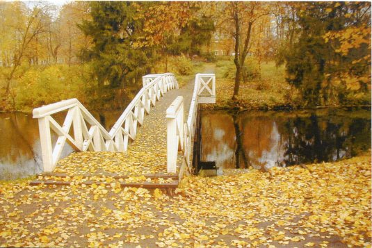 Russia - Autumn bridge