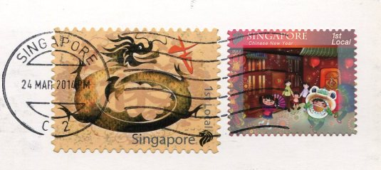 Singapore - Dragon World stamps
