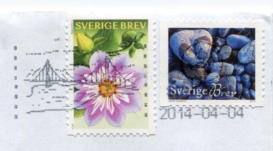 Sweden - Felted Flowers stamps