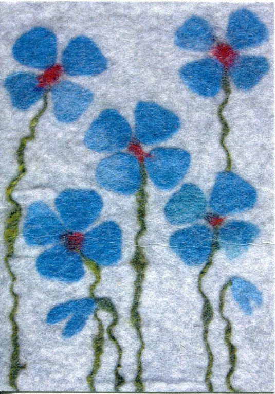 Sweden - Felted Flowers