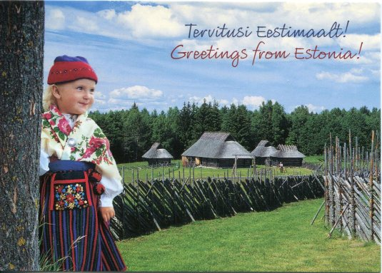 Estonia - Traditional Clothes and Huts